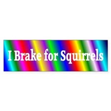 I Brake for Squirrels 5 Bumper Bumper Sticker