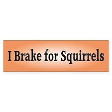 I Brake for Squirrels 2 Bumper Bumper Sticker