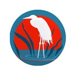 "White Crane 3.5"" Button (100 pack)"