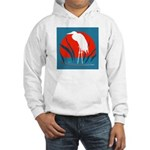 White Crane Hooded Sweatshirt