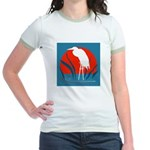 White Crane Jr. Ringer T-Shirt