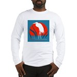 White Crane Long Sleeve T-Shirt
