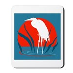 White Crane Mousepad