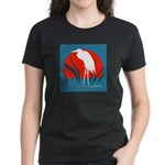 White Crane Women's Dark T-Shirt