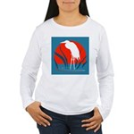 White Crane Women's Long Sleeve T-Shirt