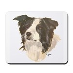 Border Collie (white) Mousepad