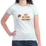 LEAF NO STONE UNTURNED Jr. Ringer T-Shirt