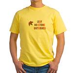 LEAF NO STONE UNTURNED Yellow T-Shirt