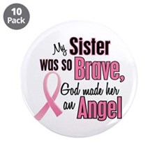 "Angel 1 (Sister BC) 3.5"" Button (10 pack)"