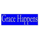 Grace Happens Bumper Car Sticker