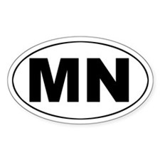 MN (Minnesota) Oval Decal