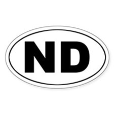ND (North Dakota) Oval Decal