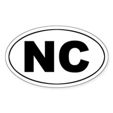 NC (North Carolina) Oval Decal