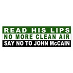 No More Clean Air, No John McCain Sticker