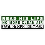 No More Clean Air, No John McCain Sticker