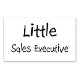 Little Sales Executive Rectangle Decal