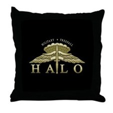 Halo Badge Throw Pillow