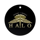 Halo Badge Ornament (Round)