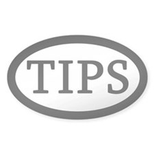 Simple TIPS Sticker for Tipjars