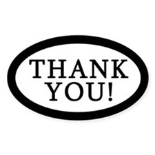 Thank You Tip Jar Decal Oval Decal