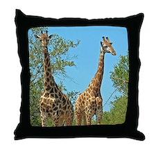 Pair of Giraffes Throw Pillow