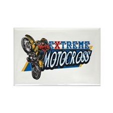 Extreme Motocross Rectangle Magnet