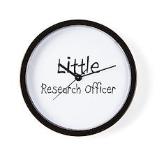 Little Research Officer Wall Clock