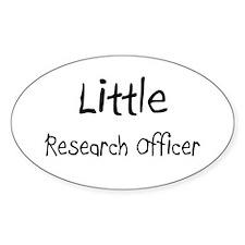Little Research Officer Oval Sticker