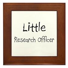 Little Research Officer Framed Tile