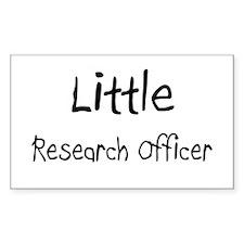 Little Research Officer Rectangle Sticker