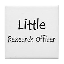 Little Research Officer Tile Coaster