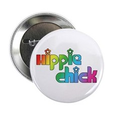 "Hippie Chick 2.25"" Button (10 pack)"