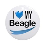 I Love My Beagle Keepsake (Round)