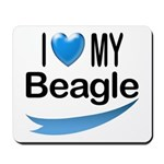 I Love My Beagle Mousepad