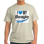 I Love My Beagle Ash Grey T-Shirt