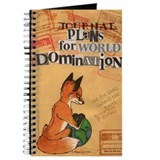 """Foxes 4 World Domination"" unlined notebook"