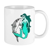 Mermaid and Shark Coffee Mug