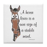 Bay Horse Lover Tile Coaster