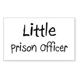 Little Prison Officer Rectangle Decal