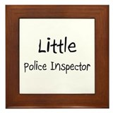 Little Police Inspector Framed Tile
