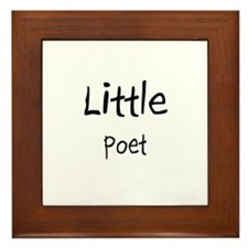 Little Poet Framed Tile