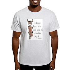 Horse Lover Ash Grey T-Shirt
