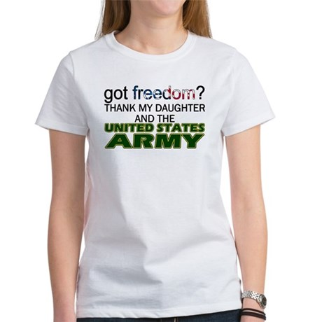Got Freedom? Army (Daughter) Women's T-Shirt