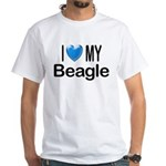 I Love My Beagle White T-Shirt
