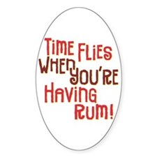 Time Flies - Oval Decal