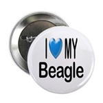 I Love My Beagle Button