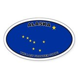 Alaska State Flag Oval Decal