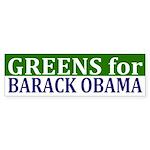 Greens for Barack Obama bumper sticker
