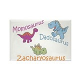 Mom, Dad, & Zacharyosaurus Rectangle Magnet