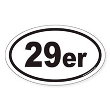 29er Euro Oval Decal